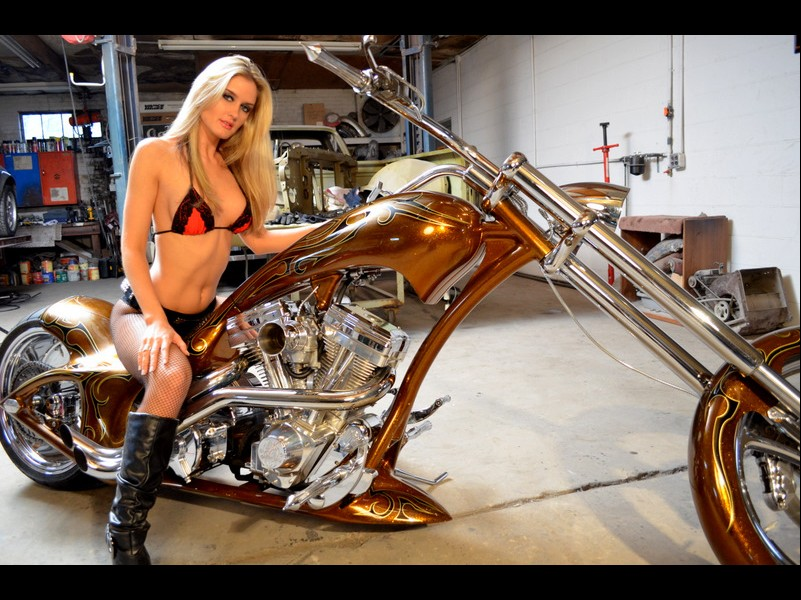 Hot slut Morgan on a bike