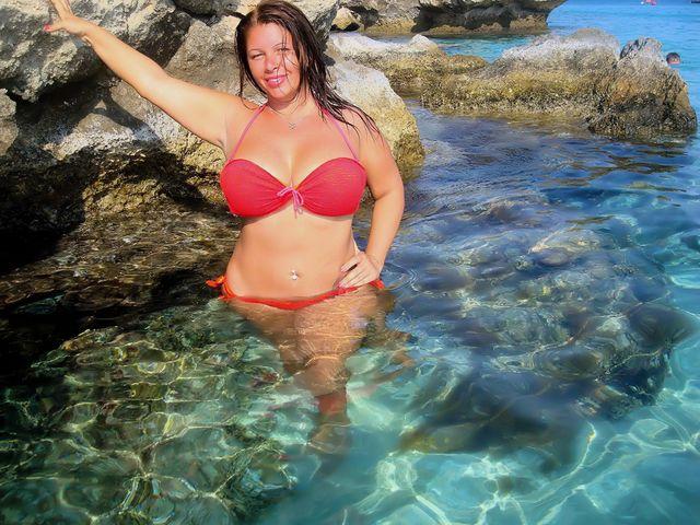 Big natural boobs - hot chick Julia