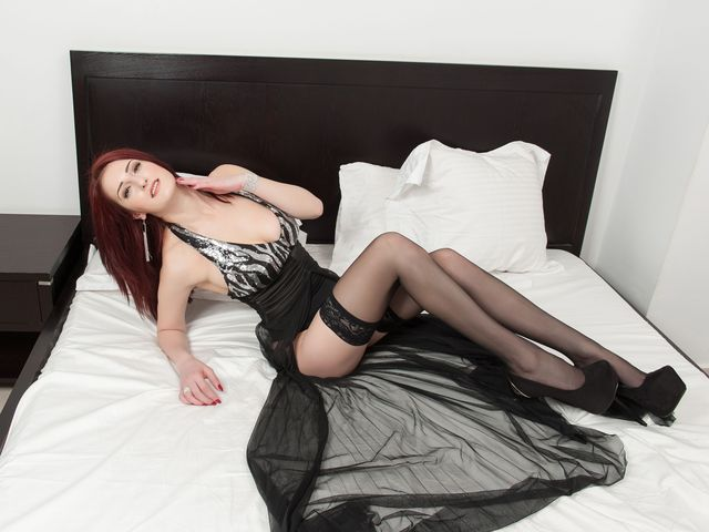 Hot camgirl Annita in black stockings
