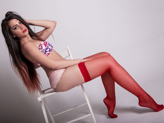 Dirty, candid cam girl Danielle in red stockings