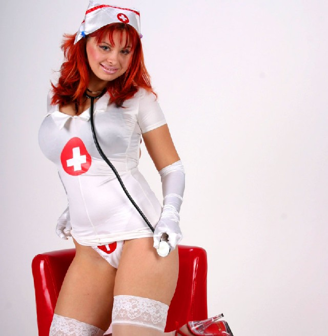 Hot, busty nurse Vanessa - sexchat, striptease on cam