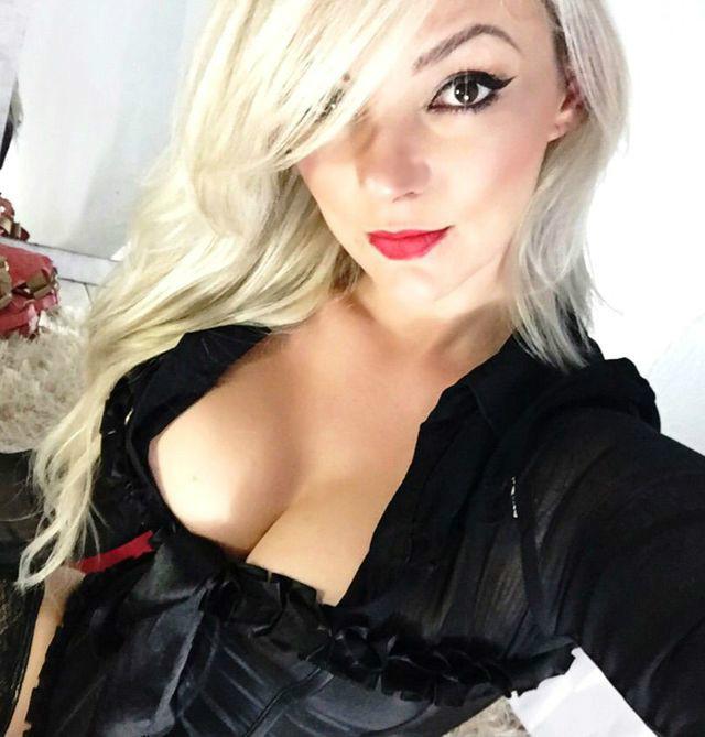Hot blonde busty slut Vanessa