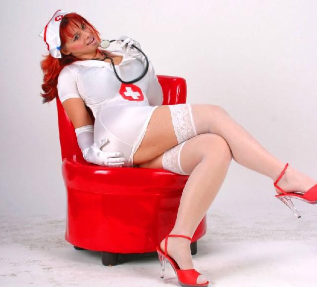 Big tits - hot and sexy nurse Vanessa