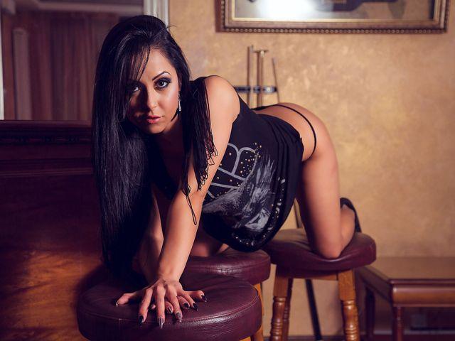 Hot, wild and slutty brunette Victoria