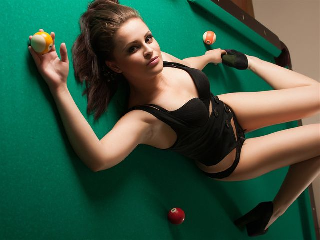 Young seductive cam girl Adriana in black lingerie