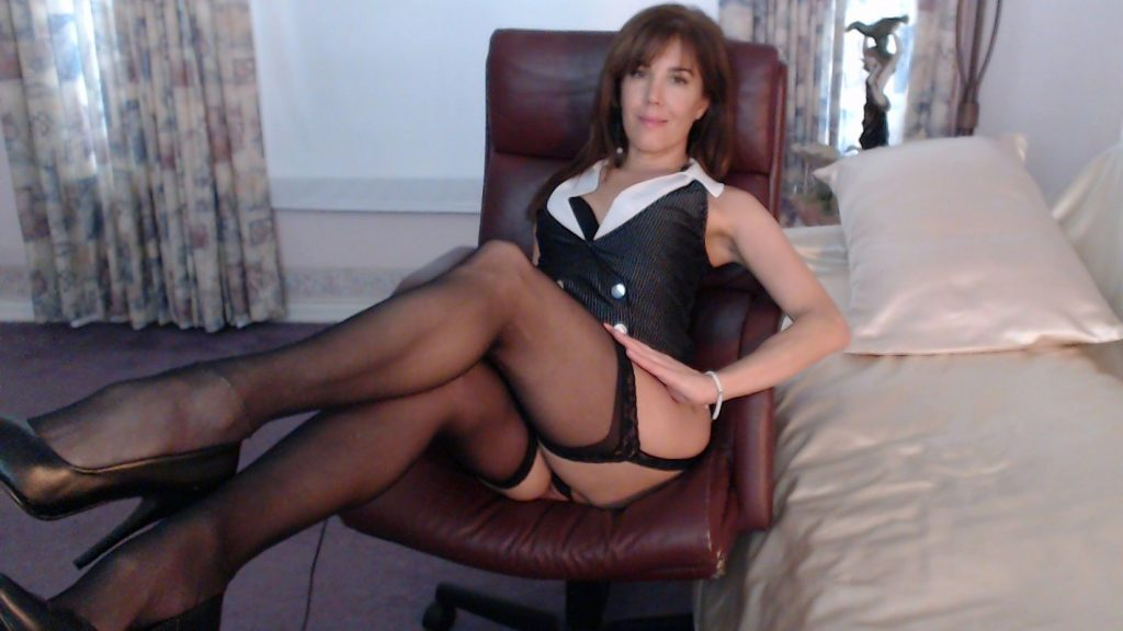 Hot Milf Sandy in black stockings
