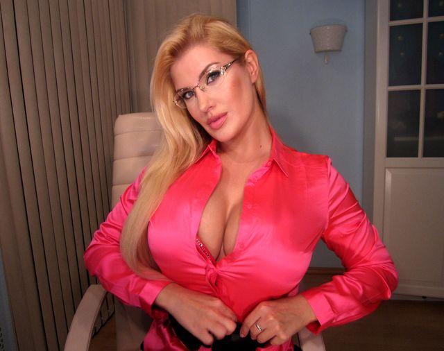 Hot secretary Helen - big natural boobs