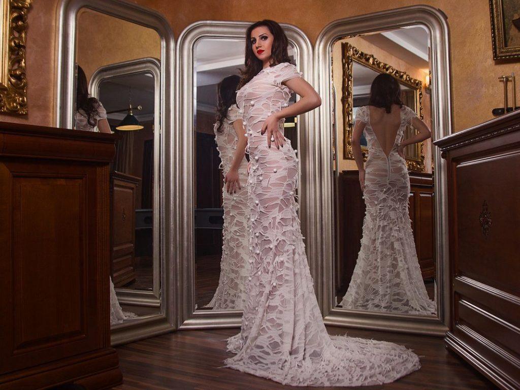 Hot cam girl Jessica in beautiful dress